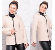 Кашемировая женская куртка пиджак 8908