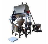 Комплекс для зважування компонентів, змішування і дозування в готову тару