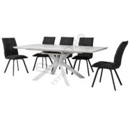 Стол обеденный TML-630 глянцевый белый мрамор