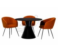 Стол круглый глянцевое стекло TML-650 черный