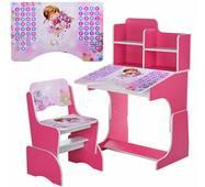 Детская парта B 2071-9-2 Розовая
