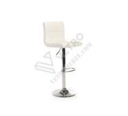 Барный стул B-40 блестящий белый