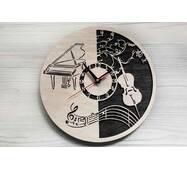 Дизайнерские настенные деревянные часы Music