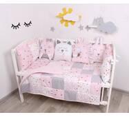"""Комплект в ліжечко з іграшками і кіскою """"Золоті Метелики"""""""