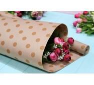 Двухсторонняя крафт бумага для цветов и подарков 65см*10м