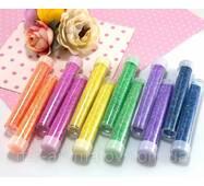 Набор неоновых блёсток (глиттера), 12 бутылочек, 6 цветов, МИКС