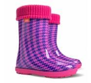 Детские резиновые сапоги Demar 0048 HF розового цвета