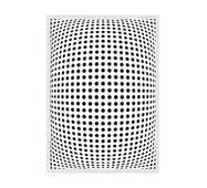 """Постер """"Abstract"""" із склом антивідблиску 59.6  x 84 см у білій рамці"""
