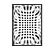 """Постер """"Abstract"""" без скла 29.7 x 42 см в чорній  рамці"""