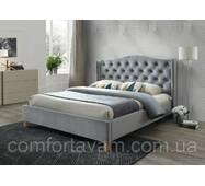 Двуспальная кровать Signal Aspen Velvet 180X200 Серый (ASPENV180SZD)