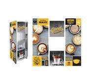 Брендована наклейка на кавовий автомат Rheavendors Luce ES (lazio)