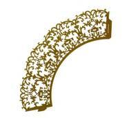 Накладка декоративная ажурная для маффинов 20 шт  0375 (74-718)