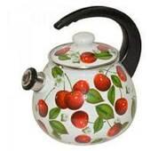 Чайник  эмалированный 2,5 л  со свистком 2711/3 ОАО НМТЗ (79-1)