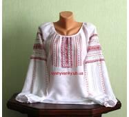 Вишукана жіноча сорочка вишита на білому льоні. ручна робота