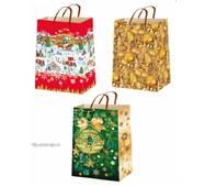 Подарункові пакети новорічні розмір 38 х 24 см (12 шт/уп)