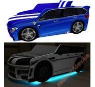 Кровать машина Premium подсветка Led Внедорожник + матрас и подушечка