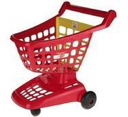 Ігровий візок для супермаркету з рухливою задньою стінкою червоний
