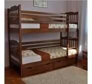 """Дитяче двyxъярycнaя ліжко """"Єва"""" з вільхи"""