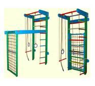 Детские Спортивный комплекс трансформер цветной 225см, сосна и бук