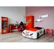 Кровать машина F1 белая + светомузыка + пульт (Турция)