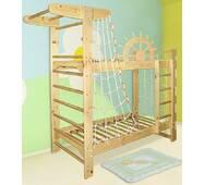 """Дитяче двох'ярусне спортивне ліжко """"Пірат"""""""