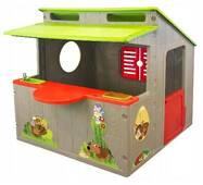 Пластиковый игровой домик для детей для улицы и дома