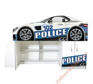 Кровать со шкафом и полками Police