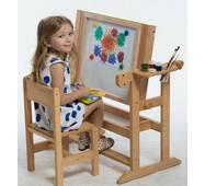 Детская Парта столик с мольбертом для рисования (без стула)