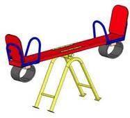 Дитячі гойдалки балансир (мала) на майданчик ігровий