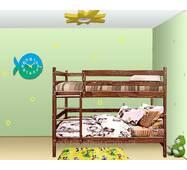 """Двох'ярусне ліжко трансформер """"Класика"""" посилена розкладна"""