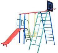 """Спортивний дитячий комплекс для вулиці c гіркою """"Баскетбол"""""""