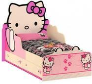 """Дитяче ліжко ящики """"Хело Китті"""" з малюнком"""