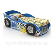 Дитяче ліжко машинка без ніші-ящика