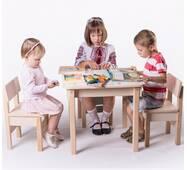 Стол с ящиком - парта для рисования с зайчиками