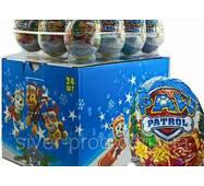 *NEW_YEAR Aras Шоколадное яйцо Патруль Щенка НОВОГОДНЕЕ 25г*24