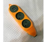 Колодка на 2 гнезда + 2*USB 16А-220V / 439А