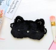 STK Маска для сну Котик чорна