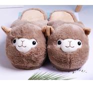 STK Тапочки-іграшки Лами коричневі, розмір 35-38