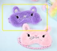 STK Маска для сну Мишка фіолетовий