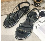 STK Жіночі босоніжки із стразами чорні, 37 р