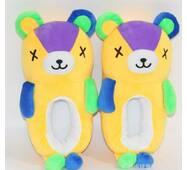 STK Тапочки Ведмедики плюшеві жовті, 36-40 із закритими очима