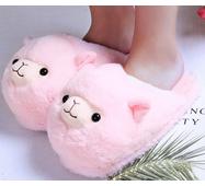 STK Тапочки-игрушки Ламы розовые, размер 35-38