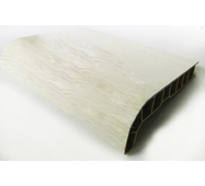 Подоконник ПВХ  Sauberg  500х1000 ламинация  белый дуб
