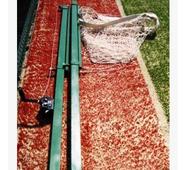Стійки волейбольні з регулюванням висоти з пристроєм натягу троса, в комплекті лебідкою і тросом