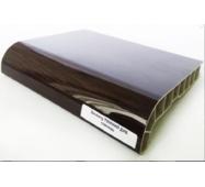 Подоконник ПВХ  Sauberg  300х1000 ламинация глянец  темный дуб