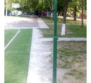 Стійки волейбольні з пристроєм натягу троса в комплекті з лебідкою і тросом (без регулювання висоти)