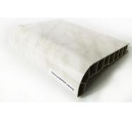 Подоконник ПВХ  Sauberg  550х1000 ламинация  глянец белый мрамор