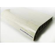 Подоконник ПВХ  Sauberg  250х1000 ламинация глянец белый дуб