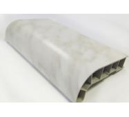 Подоконник ПВХ  Sauberg  100х1000 ламинация  белый мрамор