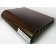 Подоконник ПВХ  Sauberg 400х1000 ламинация  глянец орех